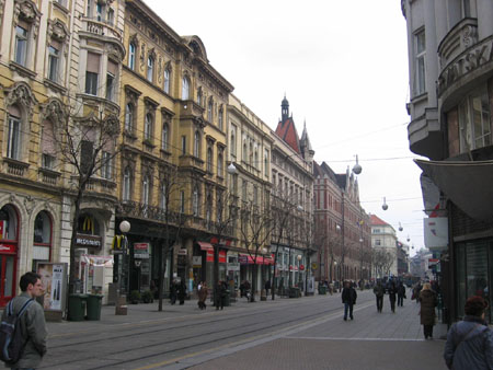 Jurisiceva street, with of course McDonalds