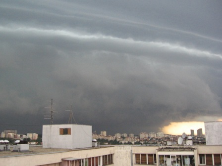 clouds over Belgrade